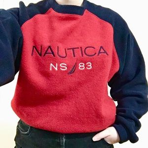 Vintage Style Nautica Fleece Pullover Sweater